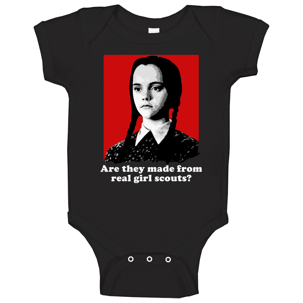 Real Girl Scouts Wednesday Addams Family Quotes Halloween Movie Show Baby One Piece