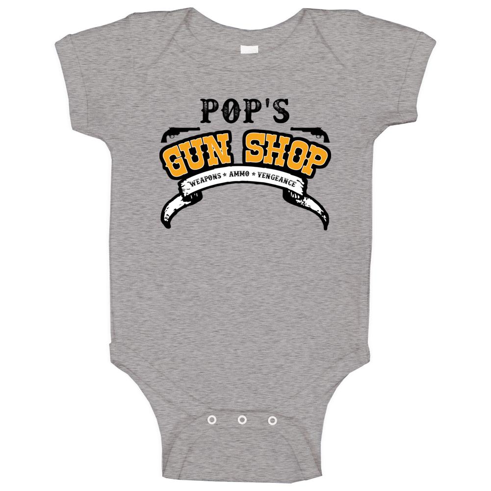 Pop Gun Shop Weapon Ammo Vengeance Firearm Baby One Piece
