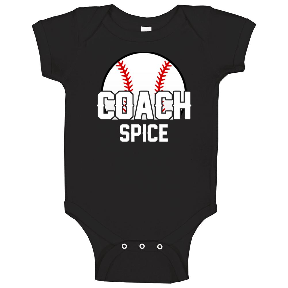 Coach Spice Baseball Name Baby One Piece