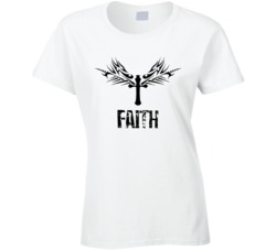 Womans/Ladies Rock Style Christian Faith Shirt Junior Fit