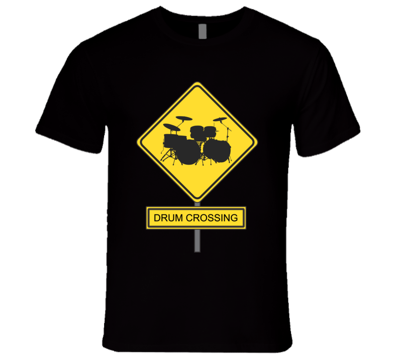 Drum Crossing - Mens Fitted T Shirt