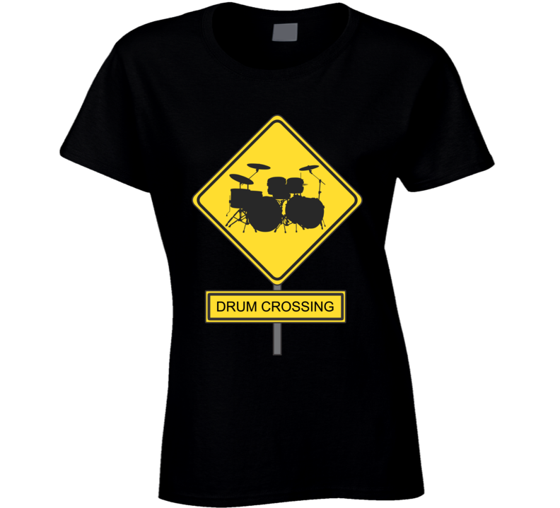 Ladies/Womans Drummer - Drum Crossing T-Shirt