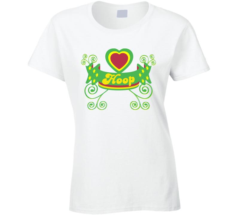 Hula Hoop Dance - Rasta Hooper Shirt - White Womans