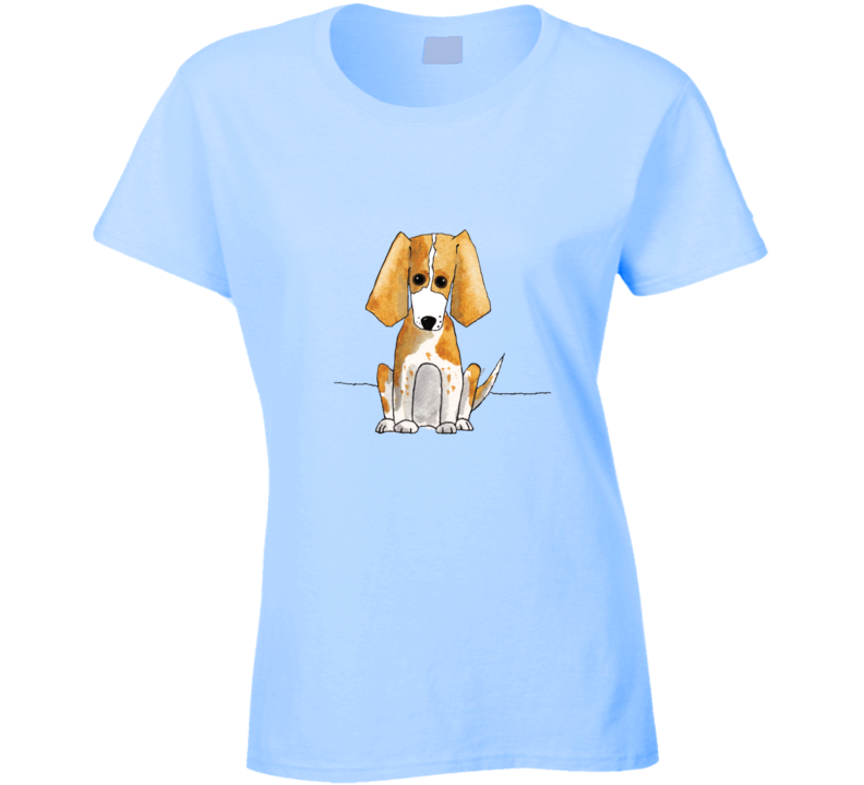 Watercolour Beagle 0713 Ladies T Shirt