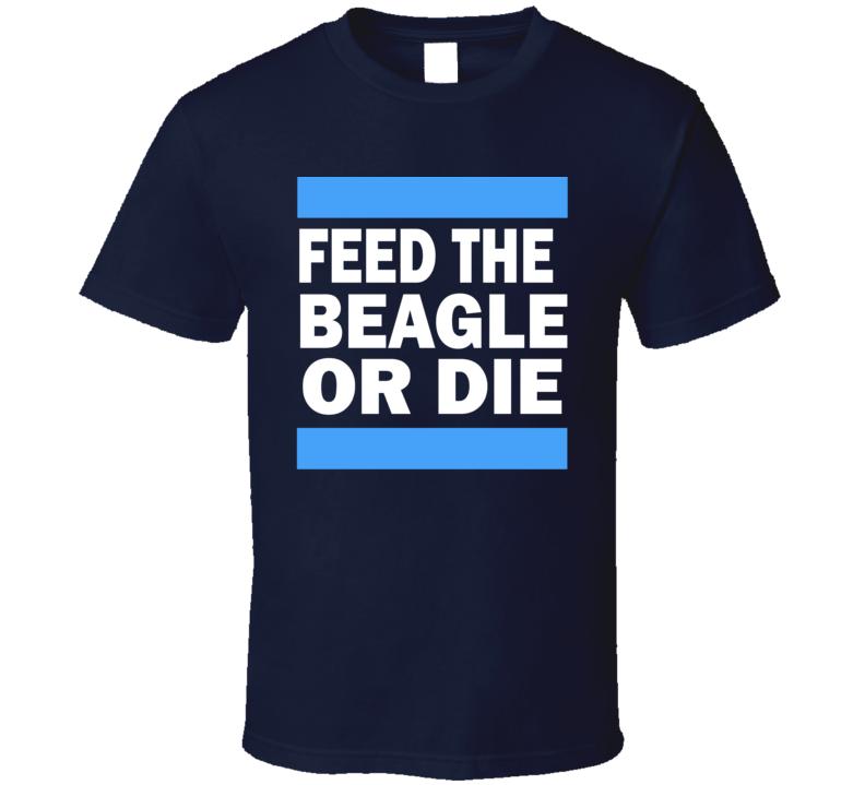 Feed The Beagle Classic Navy 0720 T Shirt