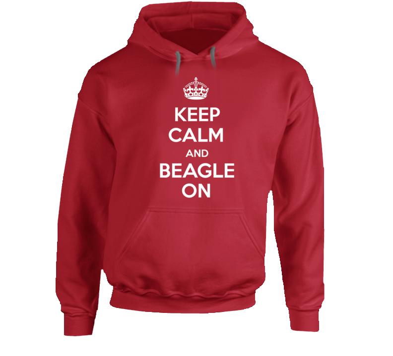 Keep Calm Beagle On Hoodie