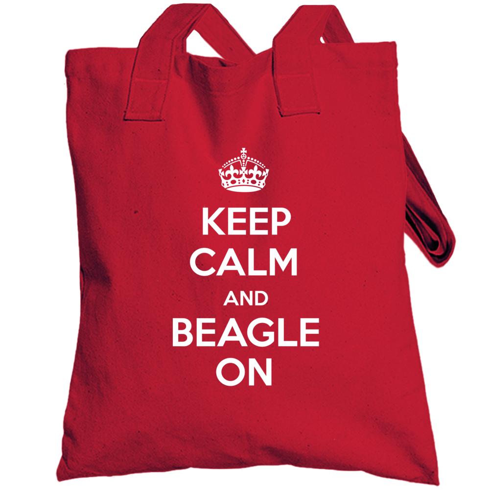 Keep Calm Beagle On Totebag