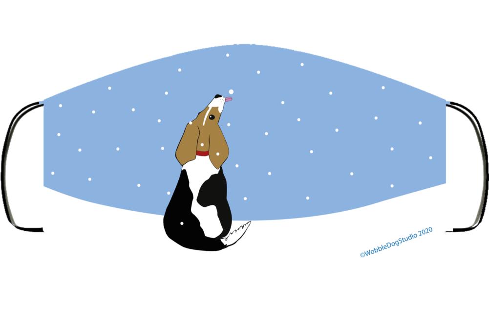 Snow Beagle Face Mask Cover
