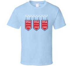 Usa World War Back To Back Champion Banner T Shirt