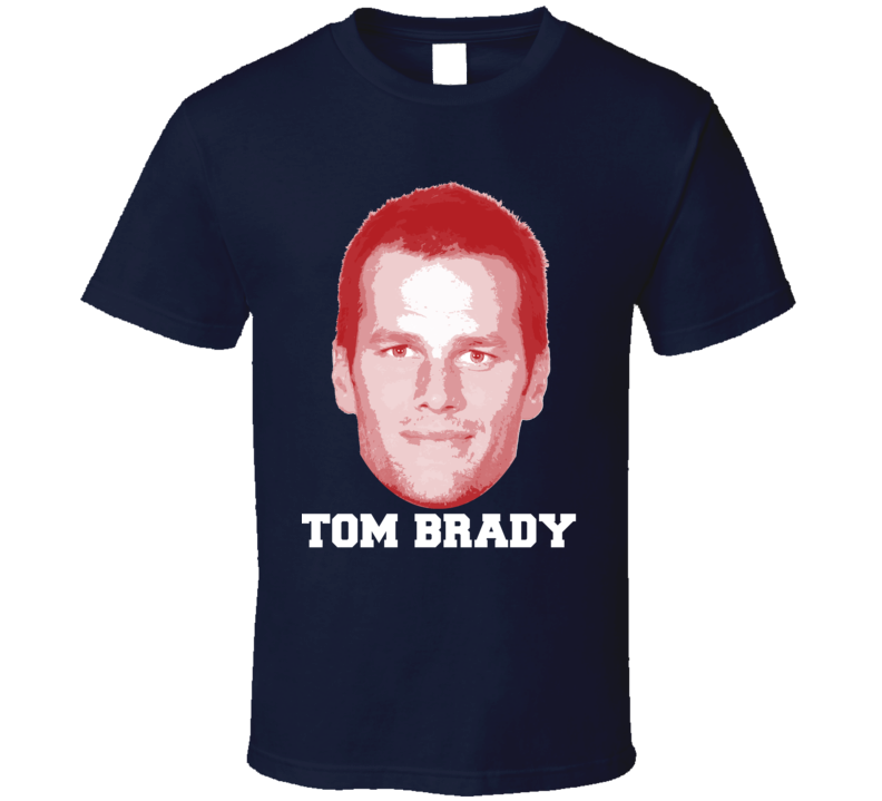 Tom Brady Face Big Head New England Football Player Fan T