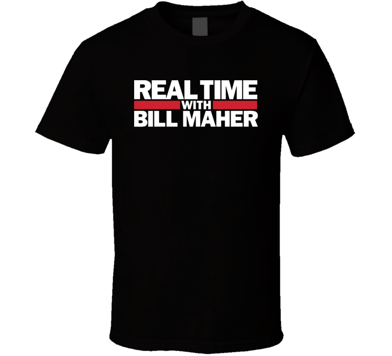 Real Time With Bill Maher Tv Show Logo Fan T Shirt