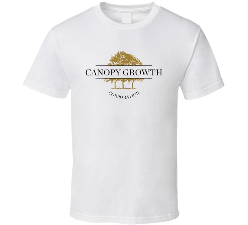 Canopy Growth Corp Cannabis Weed Marijuana Stoner Company Logo Fan T Shirt
