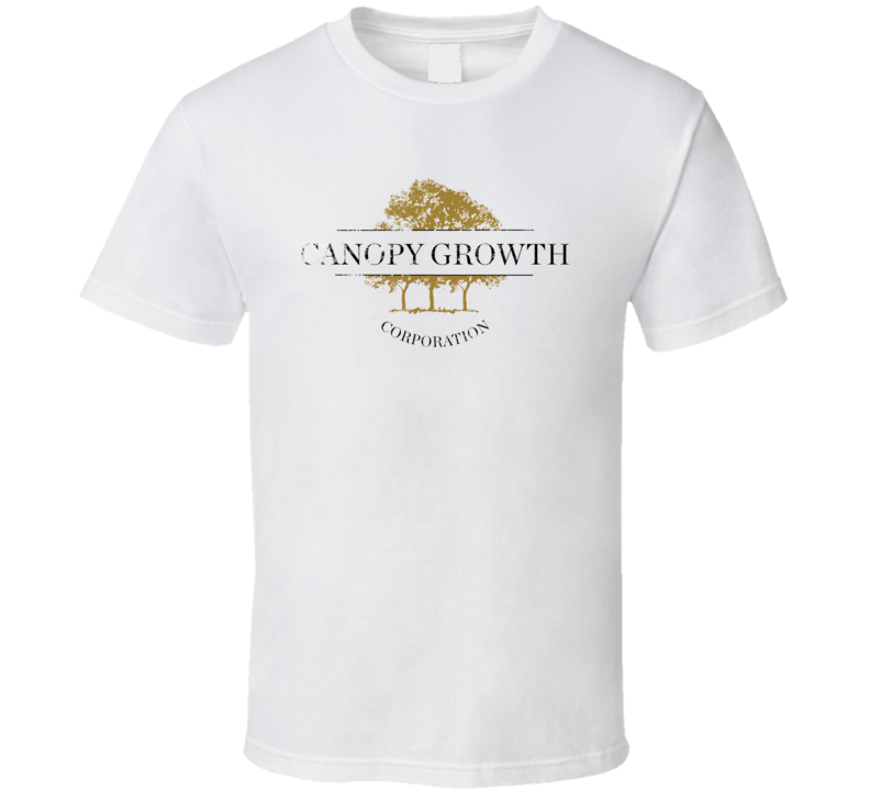 Canopy Growth Corp Vintage Distressed Cannabis Weed Marijuana Stoner Company Logo Fan T Shirt