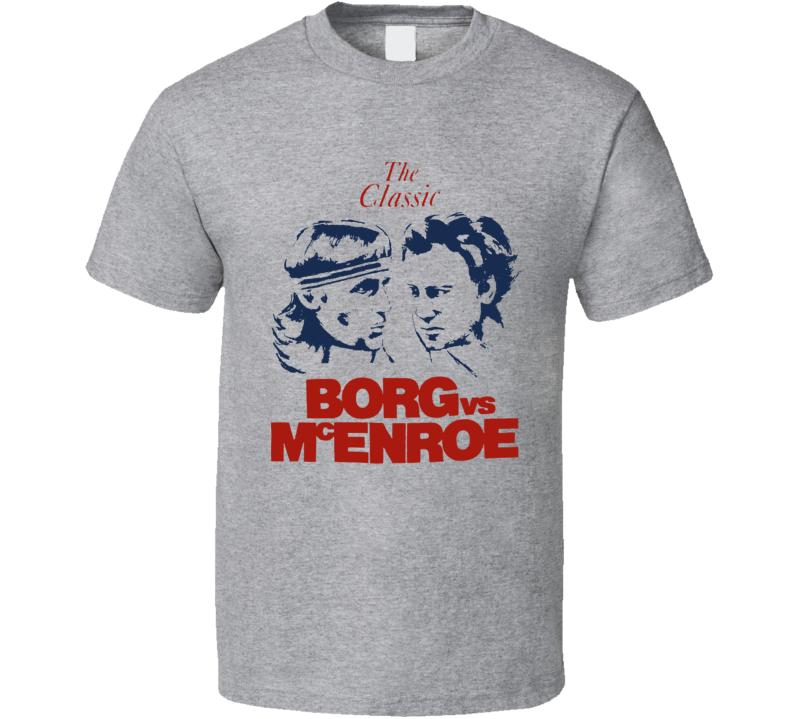 Bjorn Borg John Mcenroe Wimbledon Tennis Match Fan T Shirt