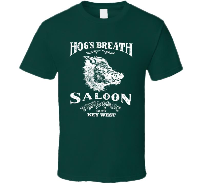 80s Hogs Breath Saloon Fort Walton Green Motorcycle Fan T Shirt