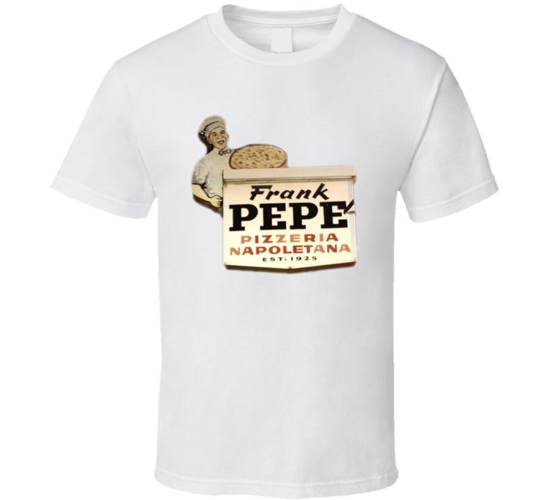 Frank Pepe's Restaurant Foodie Tour Brand Logo Fan T Shirt