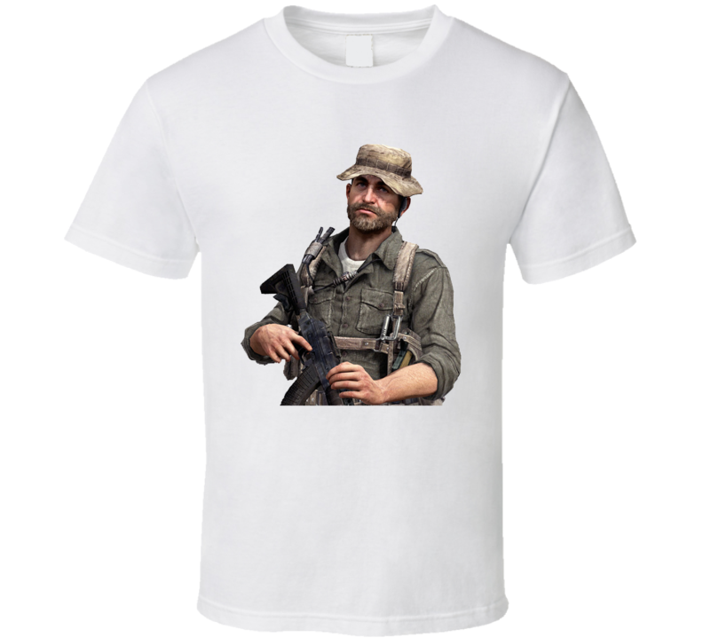 Captain Price Call Of Duty 4 Modern Warfare Video Game Character T Shirt
