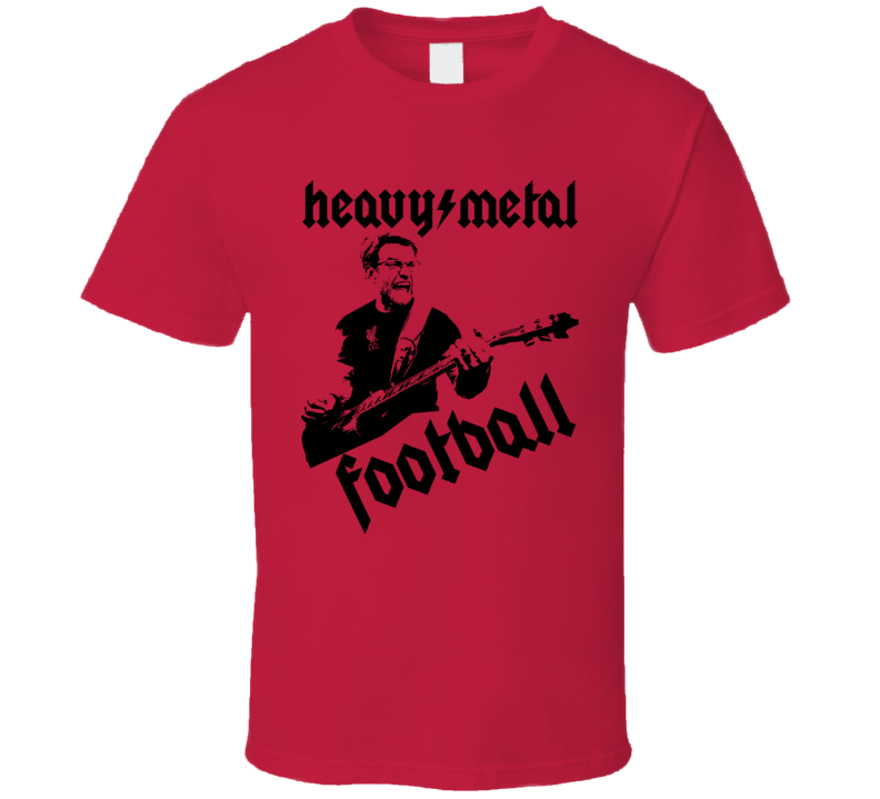 Heavy Metal Football Jurgen Klopp Liverpool Football Soccer Fan T Shirt