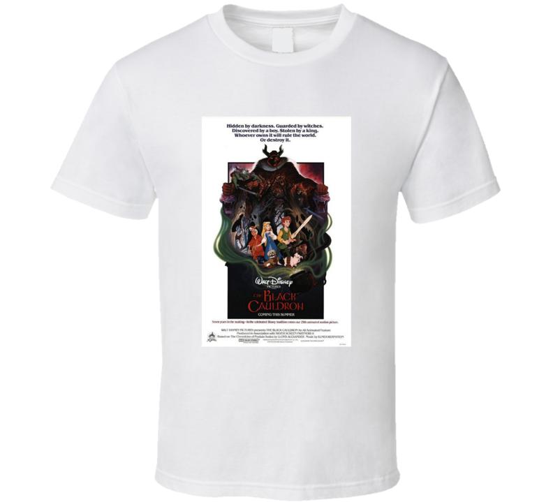 The Black Cauldron Retro Movie Poster Fan T Shirt