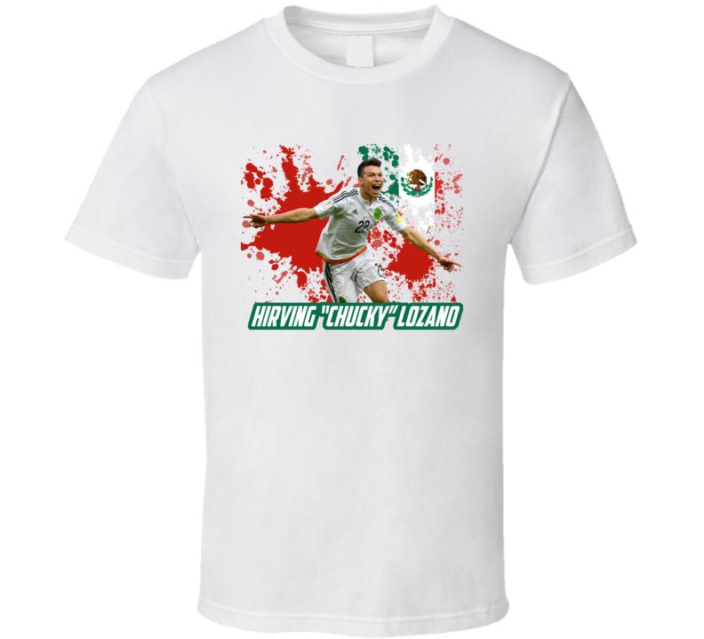 free shipping 4d3b6 467ff Hirving Chucky Lozano Mexico Football World Cup Soccer Fan T Shirt