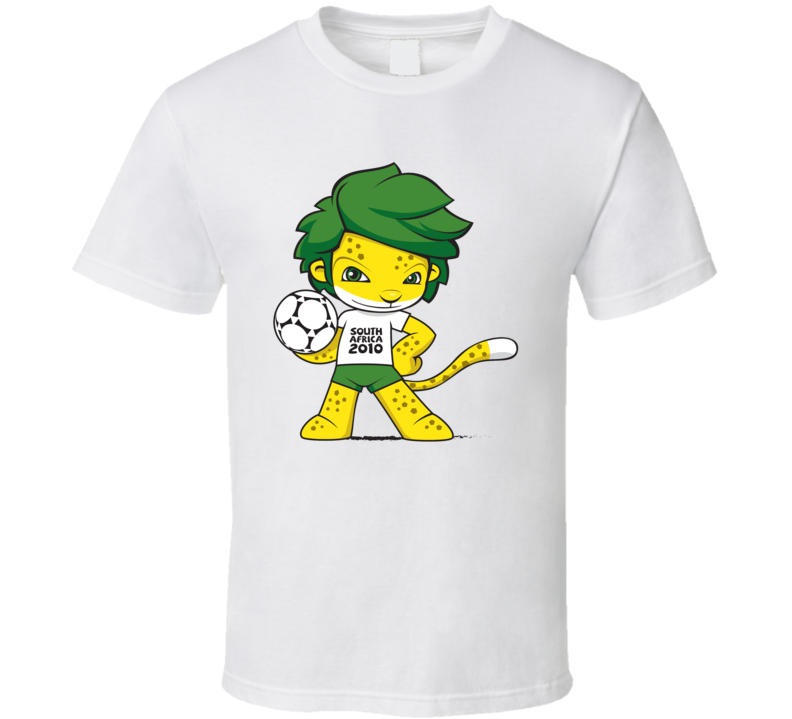 zakumi south africa 2010 world cup mascot fan t shirt