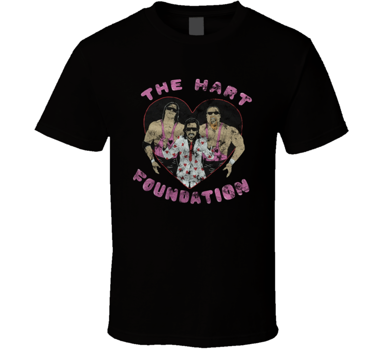 Vintage Distressed The Hart Foundation Anvil Rip Fan T Shirt
