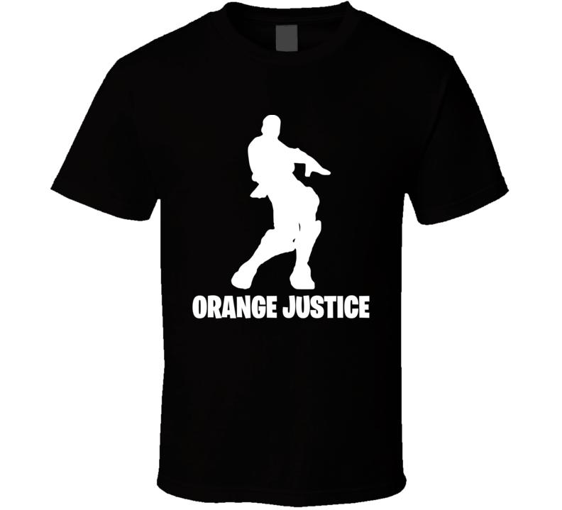 Orange Justice Fortnite Videogame Dance Move Cool Videogame T Shirt
