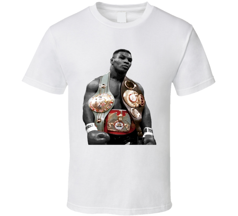 Mike Tyson Three Belts Greatest Fighter Cool Fan T Shirt