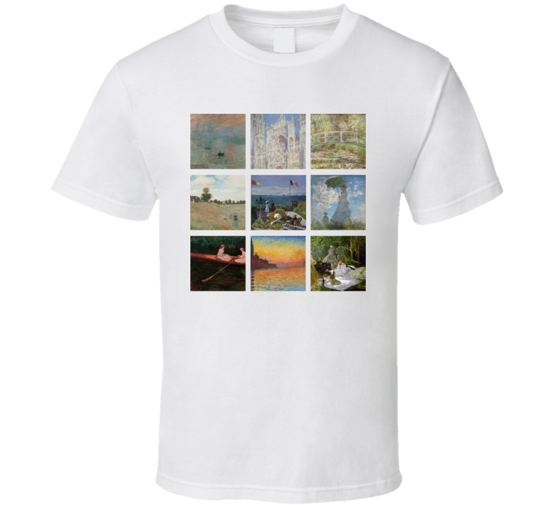 Shirt Paintings Monet Trendy T Artsy Cute Art Claude tdrQsh