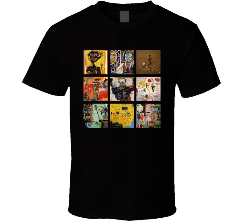 Jean Michel Basquiat Art Paintings Trendy Artsy T Shirt