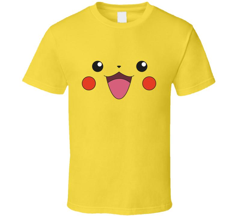 Pikachu Face Halloween Costume T Shirt