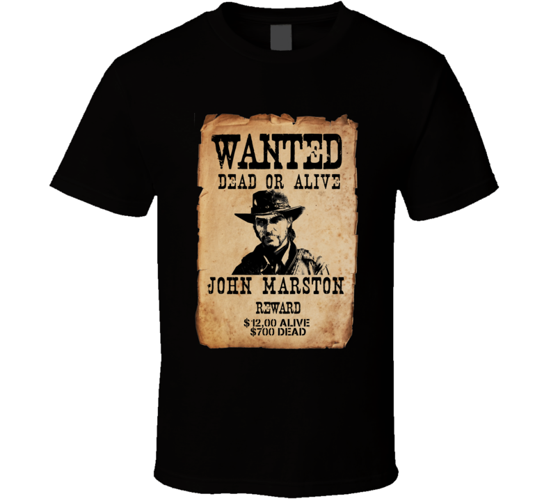 Red Dead Redemtion 2 Wanted Poster Video Game T Shirt
