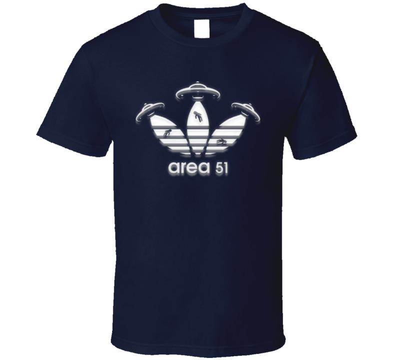 Area 51 Adidas Parody Funny Ufo T Shirt