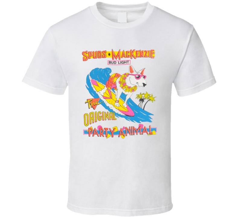 Spuds Mackenzie Bud Light The Orginal Party Animal T Shirt