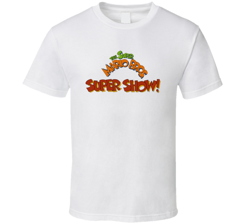 The Super Mario Bros Super Show Retro 80s Tv Show Logo Fan T Shirt