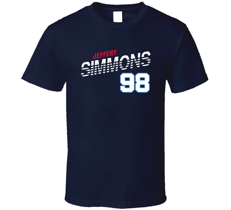 Jeffery Simmons 98 Favorite Player Tennessee Football Fan T Shirt