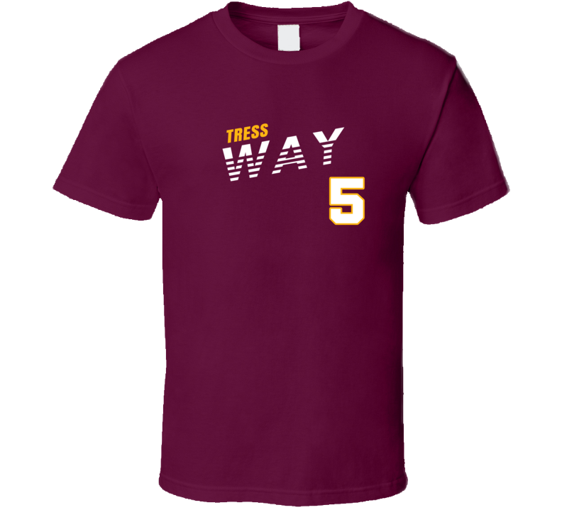Tress Way 5 Favorite Player Washington Football Fan T Shirt