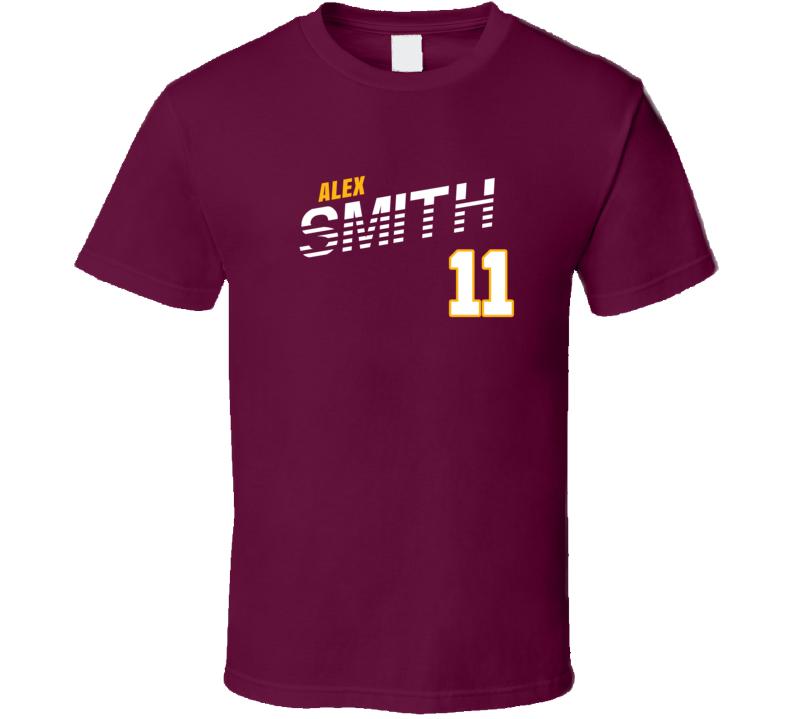 Alex Smith 11 Favorite Player Washington Football Fan T Shirt