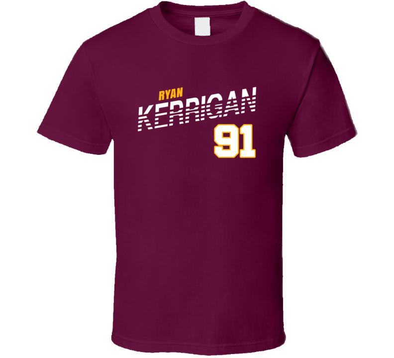 Ryan Kerrigan 91 Favorite Player Washington Football Fan T Shirt
