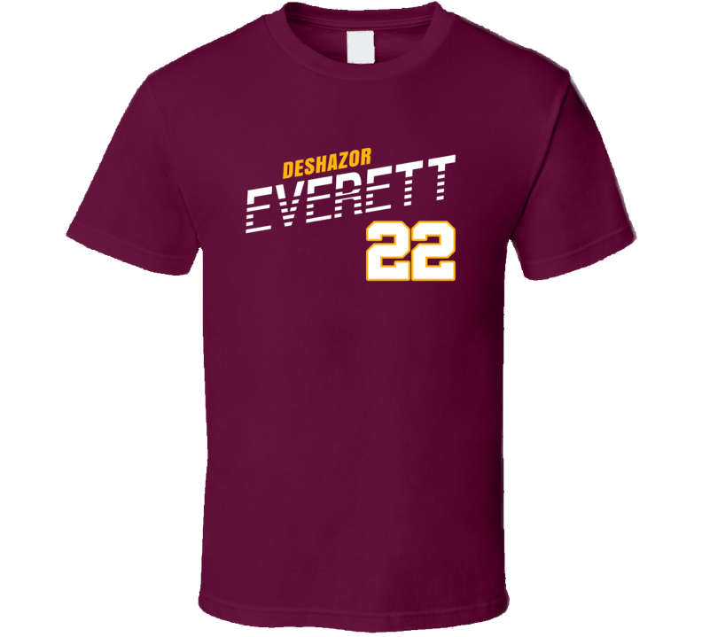 Deshazor Everett 22 Favorite Player Washington Football Fan T Shirt
