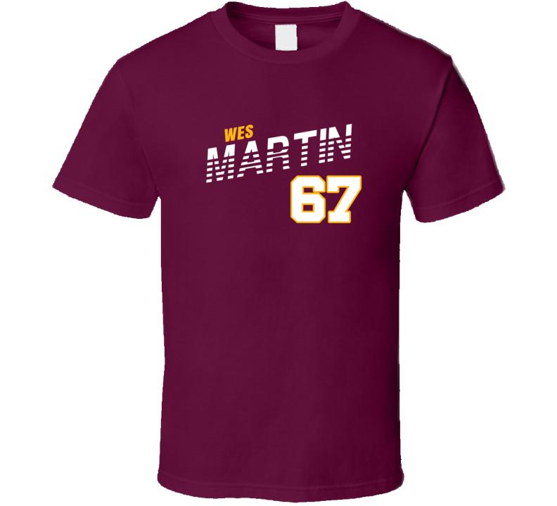 Wes Martin 67 Favorite Player Washington Football Fan T Shirt