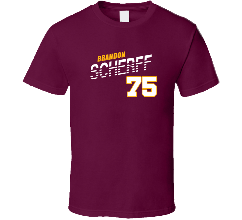 Brandon Scherff 75 Favorite Player Washington Football Fan T Shirt