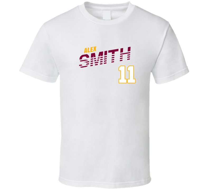 Alex Smith 11 Favorite Player Washington Football T Shirt