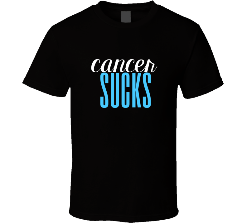Cancer Sucks Cool Graphic Text Themed 2 Word Quote T Shirt