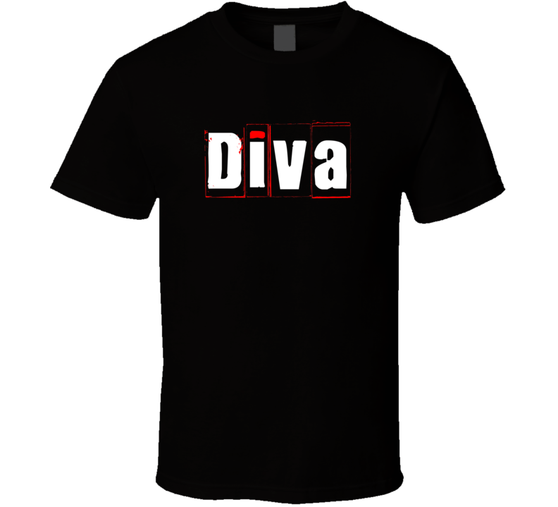 Diva Cool Graphic Text Trending Word Hashtag Slang T Shirt