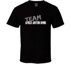 Team Apolo Anton Ohno Minute to Win It Game Host Worn Look T Shirt