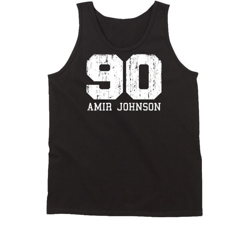 Amir Johnson No.90 Boston Basketball Fan Worn Look Sports Tanktop
