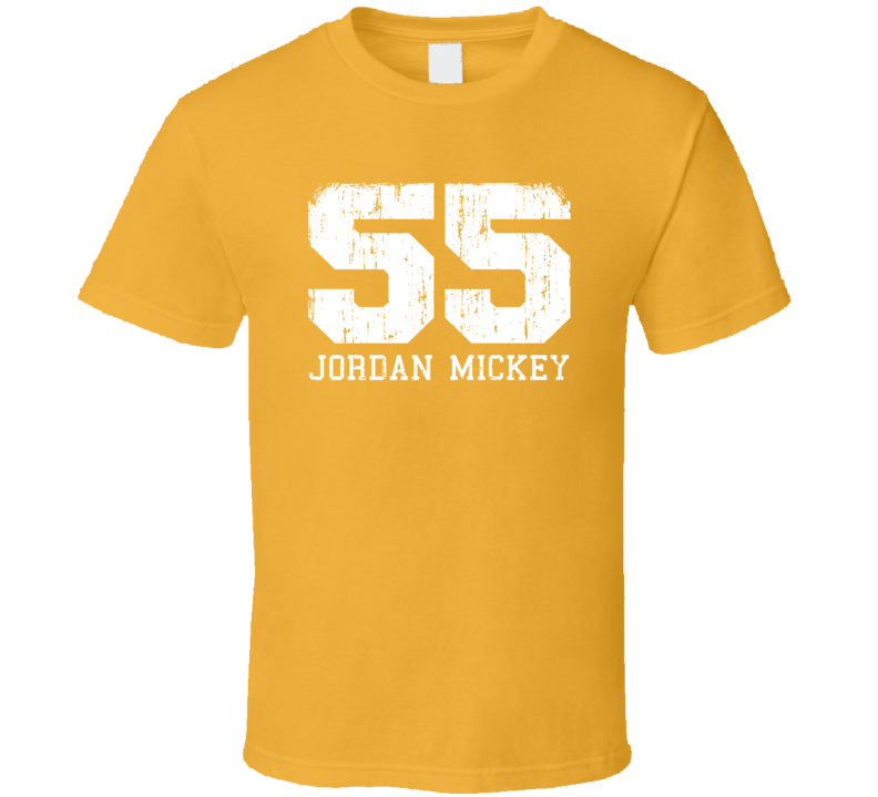 Jordan Mickey No.55 Boston Basketball Fan Worn Look Sports T Shirt