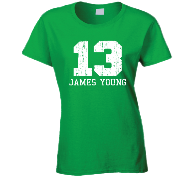 James Young No.13  Basketball Fan Worn Look Sports Ladies T Shirt
