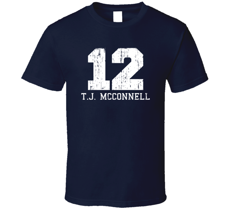 T.J. McConnell #12 Philadelphia Basketball Worn Look Sports T Shirt